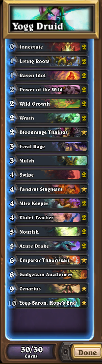 Yogg Druid Deck List