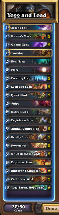 Yogg and Load Deck List
